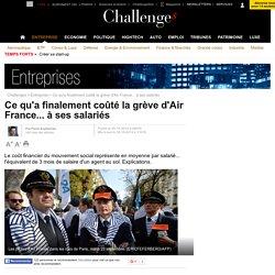 Ce qu'a finalement coûté la grève d'Air France... à ses salariés