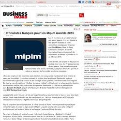 9 finalistes français pour les Mipim Awards 2016