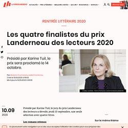 Les quatre finalistes du prix Landerneau des lecteurs 2020...