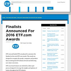 Finalists Announced For 2016 ETF.com Awards