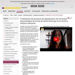 Finalización del proyecto de digitalización de los fondos documentales de la Isla de Santo Domingo en el Archivo Histórico Nacional