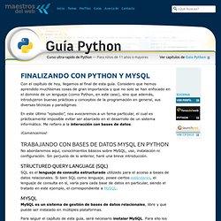 Finalizando con Python y MySQL