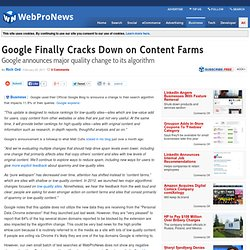 Google Finally Cracks Down on Content Farms