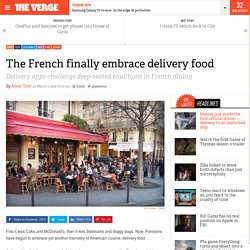 The French finally embrace delivery food