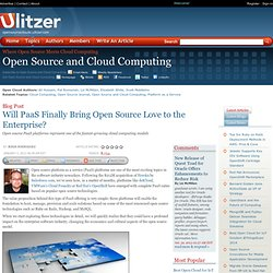 Will PaaS Finally Bring Open Source Love to the Enterprise? | Open Source and Cloud Computing