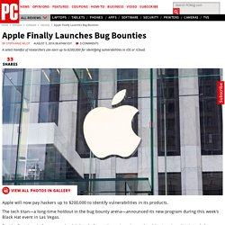 Apple finally launches bug bounties