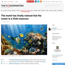 The world has finally noticed that the ocean is a finite resource