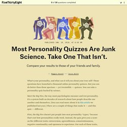 Finally, A Personality Quiz Backed By Science