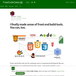 I finally made sense of front end build tools. You can, too.