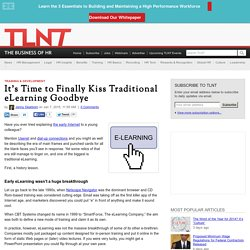 It's Time to Finally Kiss Traditional eLearning Goodbye