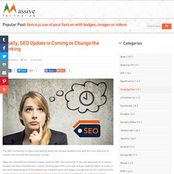 Finally, SEO Update is Coming to Change the Ranking