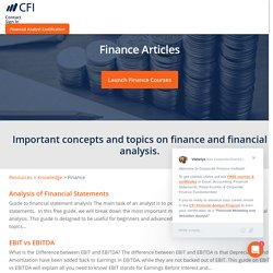 Finance Articles - Self Study Guides to Learn Finance