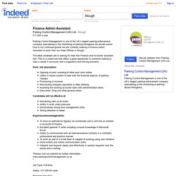 Finance Admin Assistant job - Parking Control Management (UK) Ltd - Slough