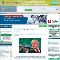 H24 Finance : Warren Buffett fustige la gestion active