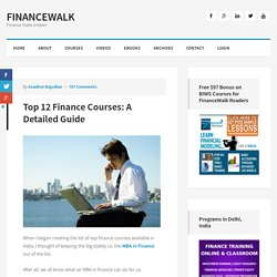 Finance Courses l 12 Best Banking and Finance Courses Guide