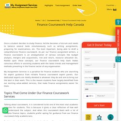Expert Finance Coursework Help Now Made Affordable!