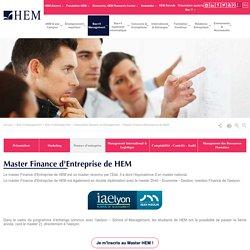 Master Finance d'Entreprise