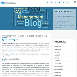 Why PGDM in Finance (Financial Management) is a Great Career