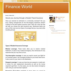 Finance World: Secure you Journey through a Student Travel Insurance