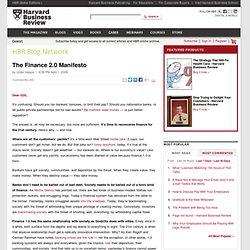 The Finance 2.0 Manifesto - Umair Haque