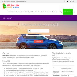 Apply for Car Loan, check auto finance options online