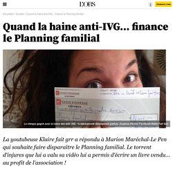 Quand la haine anti-IVG... finance le Planning familial