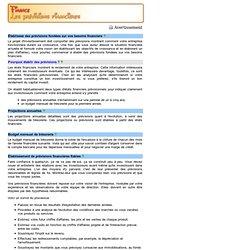 Finance - Les prévisions financières
