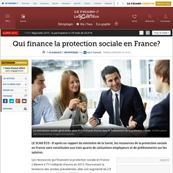 Qui finance la protection sociale en France?
