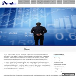 Finance - PursueAsia