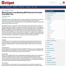 What Finance and Banking BPO Services Provider Can Offer You.