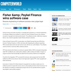 Fisher & Paykel Finance wins software case