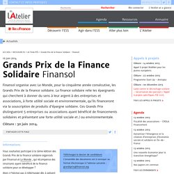 Grands Prix de la Finance Solidaire - Finansol