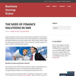 The need of finance solutions in SME