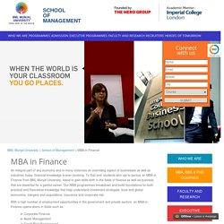 MBA in Finance - Syllabus, Eligibilty and Career