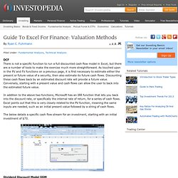 Guide To Excel For Finance: Valuation Methods