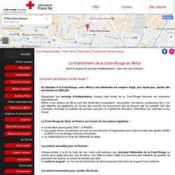 Financement de nos actions - Croix-Rouge française de Paris 9ème