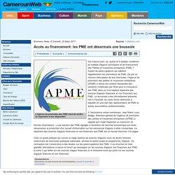 Accès au financement: les PME ont désormais une boussole