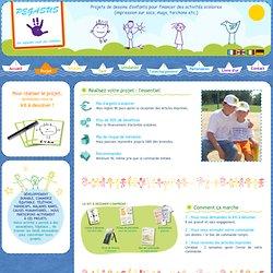 Impression de dessins d'enfants sur tissu, plastique et divers objets pour l'aide au financement des écoles et coopératives scolaires