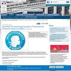Lancement d'un nouvel appel à projets « Financement de l'économie sociale et solidaire »
