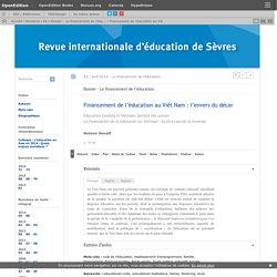 Financement de l'éducation au Viêt Nam: l'envers du décor