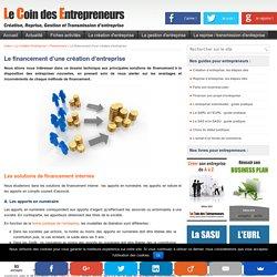 Les solutions de financement pour une création d'entreprise