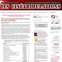 Devis et Plan de financement FICTIF d'un Film de cinéma - By Niala01