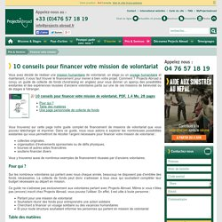 Financement de mission humanitaire de volontariat, financer voyage humanitaire