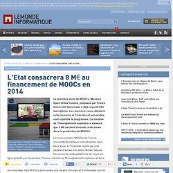 L'Etat consacrera 8 M€ au financement de MOOCs en 2014