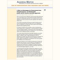 L'Etat se désengage du financement des infrastructures : Le Partenariat public-privé comme nouvelle approche