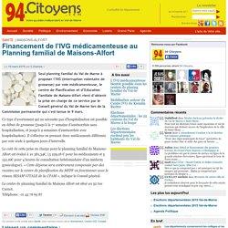 Financement de l'IVG médicamenteuse au Planning familial de Maisons-Alfort