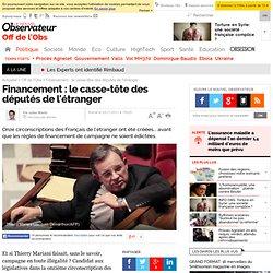 Financement : le casse-tête des députés de l'étranger - Off de l'Obs