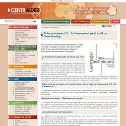 Fiche technique n°11 : Le financement participatif ou Crowfunding