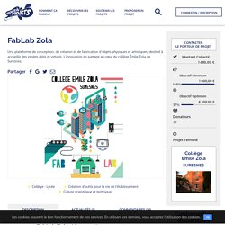 FabLab Zola - Trousse à Projets — La plateforme solidaire de financement participatif des projets des enseignants et de leurs élèves