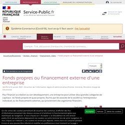 Modes de financement des entreprises - professionnels